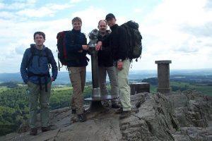 Auf dem Gipfel der Milseburg